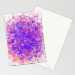 gathering crystals, red and blue Stationery Cards