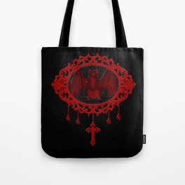 Vampyre Cameo Bat (Jewel Of Blood Collection) Tote Bag