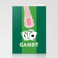 poker Stationery Cards featuring Poker Face by Remix Comix