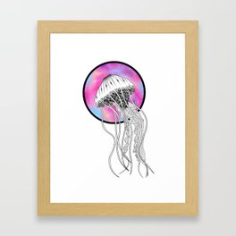 Galactic Jellyfish Framed Art Print