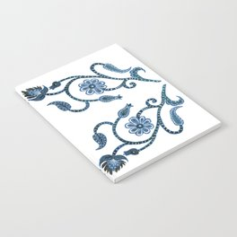 Blue Paisley Double Heart 1 Notebook