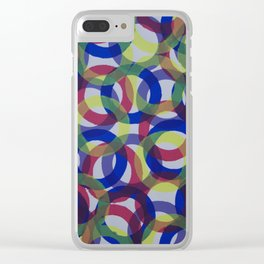 Circles 2 Clear iPhone Case
