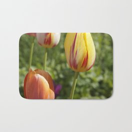 Yellow and Orange Tulips Bath Mat