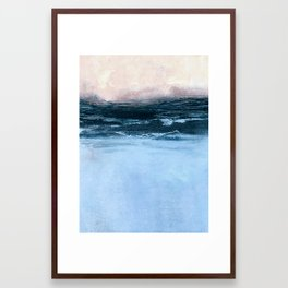 misty sunrise Framed Art Print
