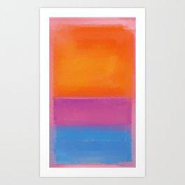 Rothko Interpretation Orange Blue Art Print