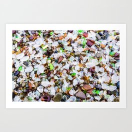 Sea Glass Treasures At Glass Beach Photograph by Priya Ghose Art Print
