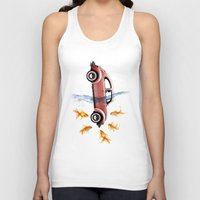 vw Tank Tops featuring VW beetle and goldfish by Vin Zzep