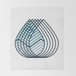 Mirage shades of Ursula Throw Blanket