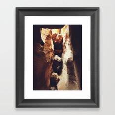 Aron Ralston's Accident Location Framed Art Print