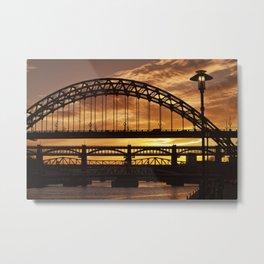 Newcastle at Sunset Metal Print