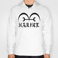 one piece Hoodies featuring Marine One Piece by Prince Of Darkness