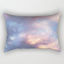 Sunset | Pink Clouds | Sky | Rainbow | Unicorn Colours | Nature Rectangular Pillow