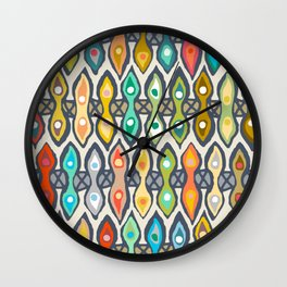 Avani ikat Wall Clock