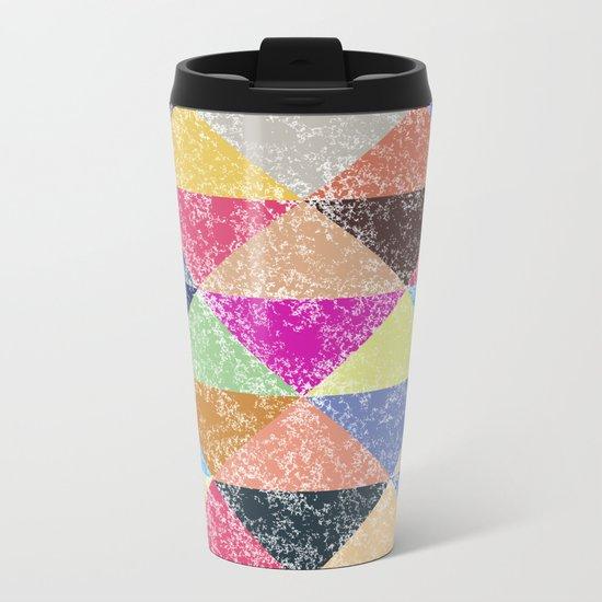 Color texture, Geometric background #2 Metal Travel Mug