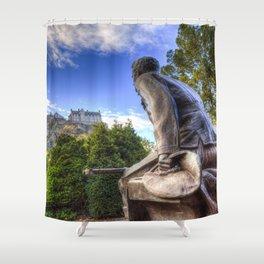 Scots American Memorial And Edinburgh Castle Shower Curtain