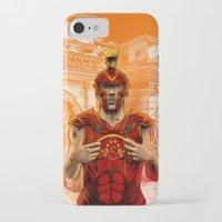 gladiator iPhone & iPod Cases featuring German Gladiator Podolski by Akyanyme