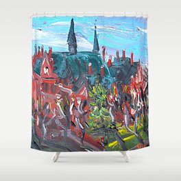 Latvian Academy of Art in Riga, Latvia Shower Curtain