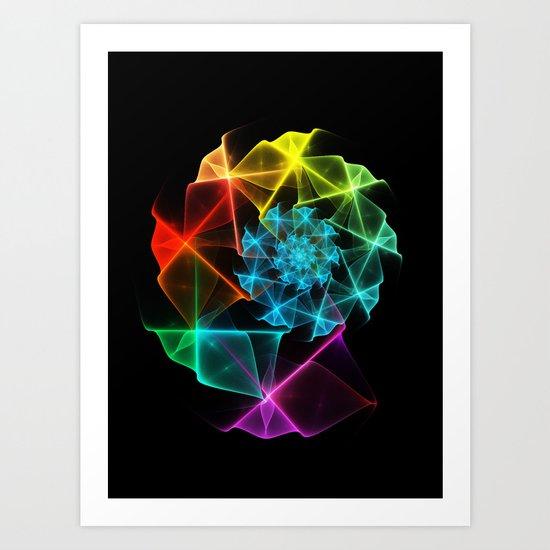 Classical Fractal Spiral 2 Art Print