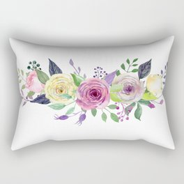 Posy ROSE AND RED Painted - bouquet, nosegay, flower Rectangular Pillow