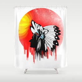 Native Americans,American Indian design Shower Curtain