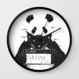 Bad panda Wall Clock