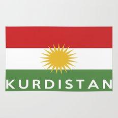 Kurdistan country flag name text Rug