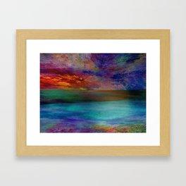 Ocean at Sunset Framed Art Print