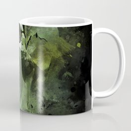 Splashed watercolor skull painting | let's get messy! Coffee Mug