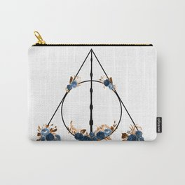 Deathly Hallows in Blue and Brown Carry-All Pouch