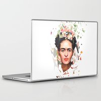 frida Laptop & iPad Skins featuring Frida by Tracie Andrews