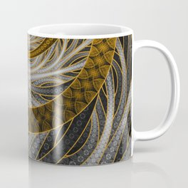 Banded Dragon Scales of Black, Gold, and Yellow Coffee Mug