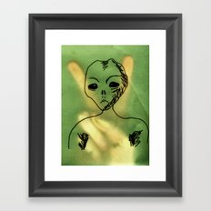 We Come In Peace. Framed Art Print