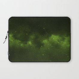 Fascinating view of the green cosmic sky Laptop Sleeve