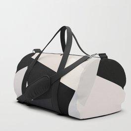 Mid Century Modern Geometry 1 black grey beige Duffle Bag