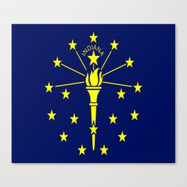 flag indiana,midwest,america,usa,carmel, Hoosier,Indianapolis,Fort Wayne,Evansville,South Bend Canvas Print