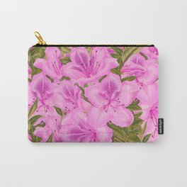 Violet Flowers Carry-All Pouch