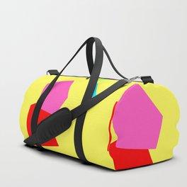 Minimal Abstract Modern Scandinavian Design Colorful Pop Duffle Bag