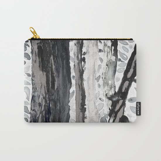 Rainbow Eucalyptus Graffiti artist tree from shedding bark South Pacific Black and White Night Carry-All Pouch