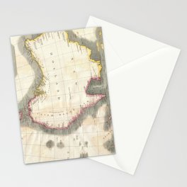 Vintage Map of Australia (1814) Stationery Cards