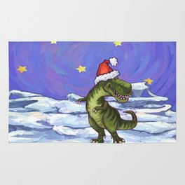 Tyrannosaurus Christmas Rug