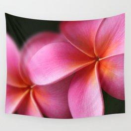 Pua Lei Aloha Cherished Blossom Pink Tropical Plumeria Hina Ma Lai Lena O Hawaii Wall Tapestry