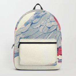 Pink parrot Backpack