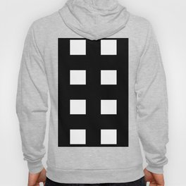 square pattern black and white, geometric Hoody