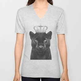 The King Panther Unisex V-Neck