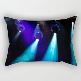 Blue Lights Rectangular Pillow