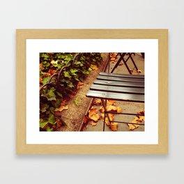 bryant park cafe chair Framed Art Print