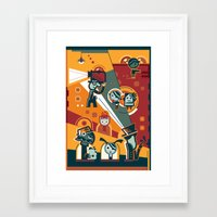 cinema Framed Art Prints featuring Cinema by Petra Stefankova