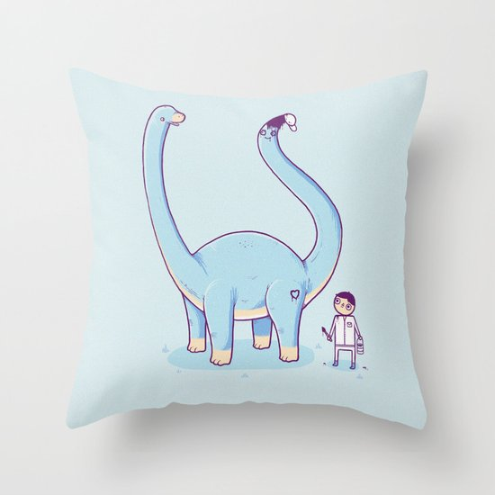 A new friend Throw Pillow