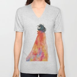 The Girl with the starry mantle Unisex V-Neck