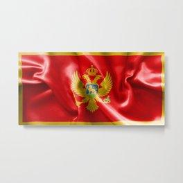 Montenegro Flag Metal Print